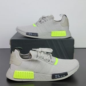New Adidas NMD_R1 Boost Grey Green Men's Shoes